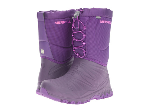 Merrell Kids Snow Quest Lite Waterproof (Big Kid) - Berry WPF Synthetic