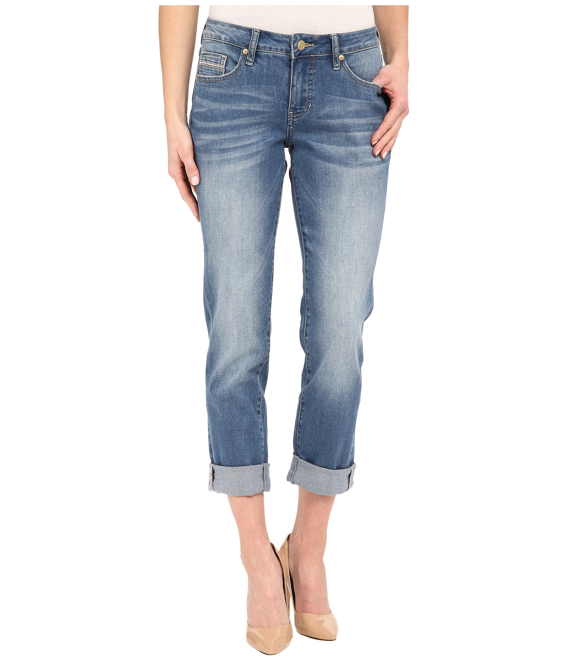 Jag Jeans Alex Boyfriend Capital Denim in Rock Water Blue Rock Water Blue - Zappos.com Free ...