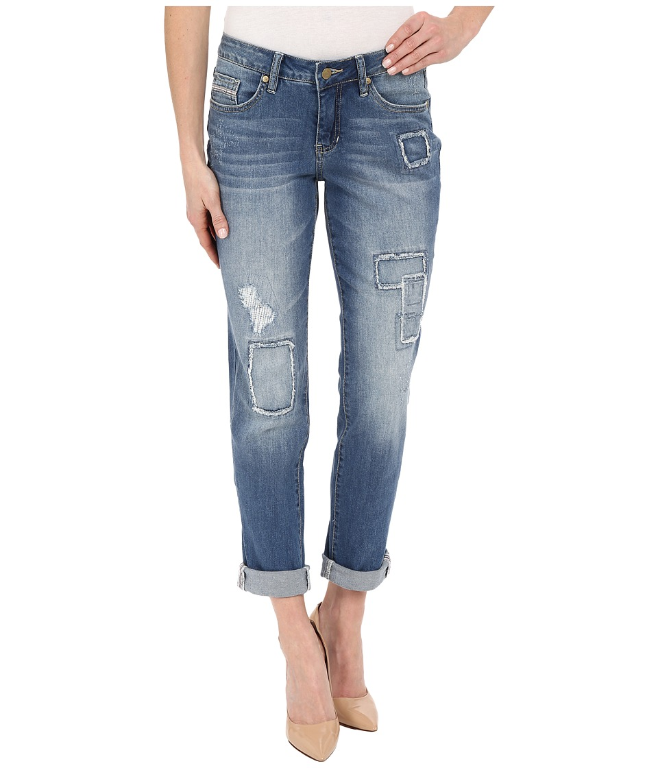 Jag Jeans Patched Alex Boyfriend Capital Denim in Rock Water Blue Rock Water Blue Womens Jeans