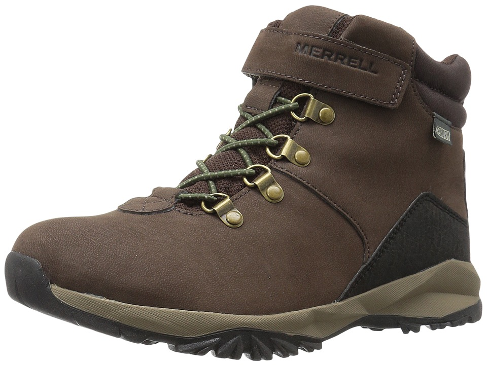 Merrell Kids Alpine Casual Boot Waterproof (Big Kid) (Brown) Boys Shoes