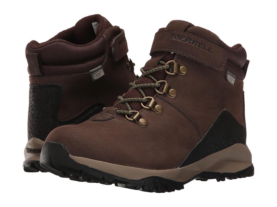 Merrell Kids - Alpine Casual Boot Waterproof (Toddler/Little Kid) (Brown) Boys Shoes