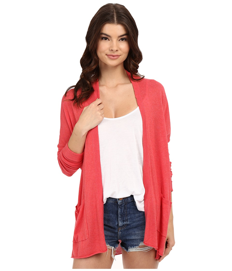 Billabong Outside The Lines Cardigan Coral Womens Sweater