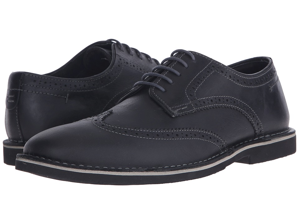 Steve Madden - Lookus (Black Leather) Men