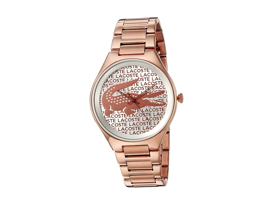 Lacoste 2000929 Valencia Silver White/Rose Gold Watches
