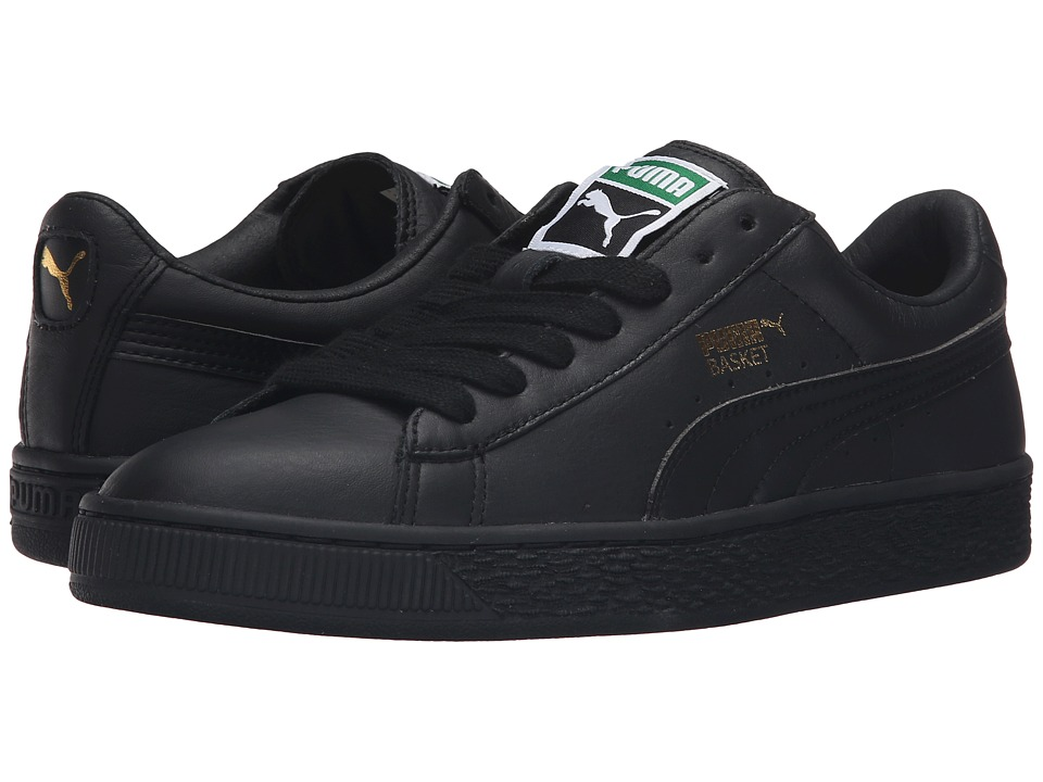 PUMA Basket Classic LFS (Black/Metallic Gold) Women