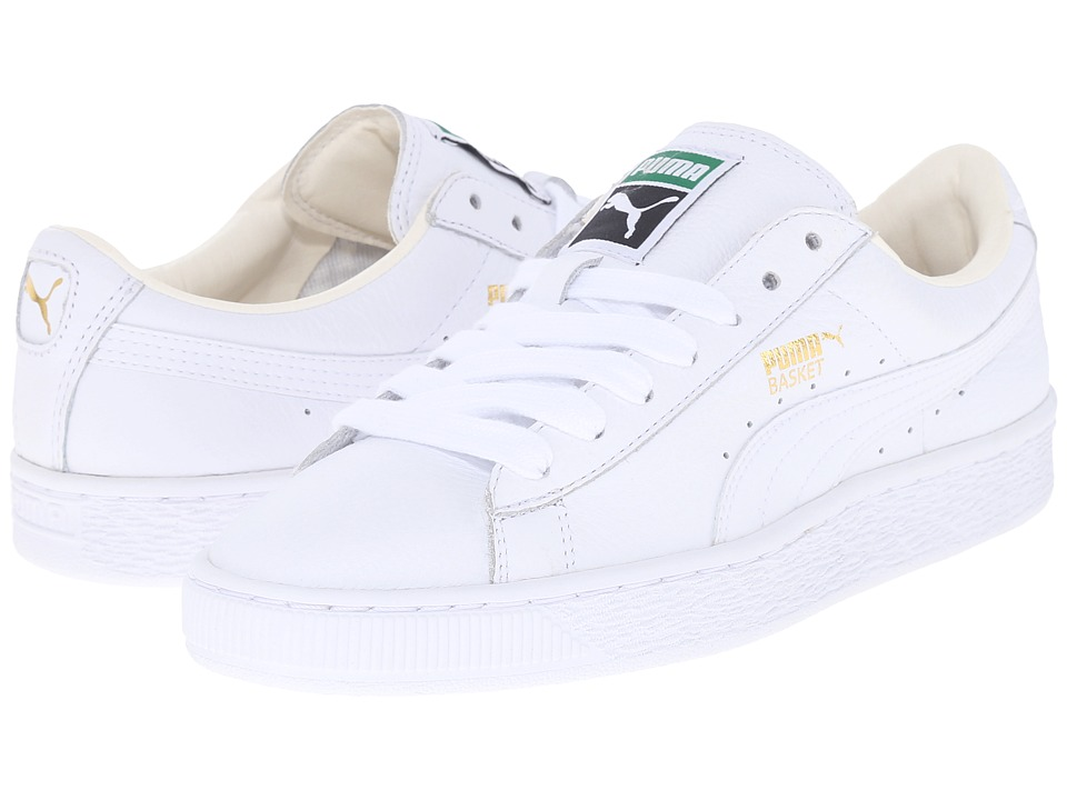 PUMA - Basket Classic LFS (White/White) Womens Shoes