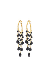Dee Berkley - Black Agate Hoop Earrings