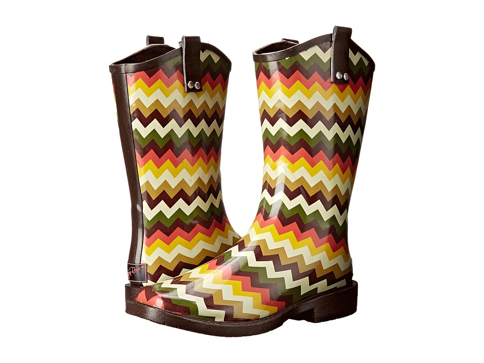 M&F Western Clara (Brown/Cream Chevron) Cowboy Boots