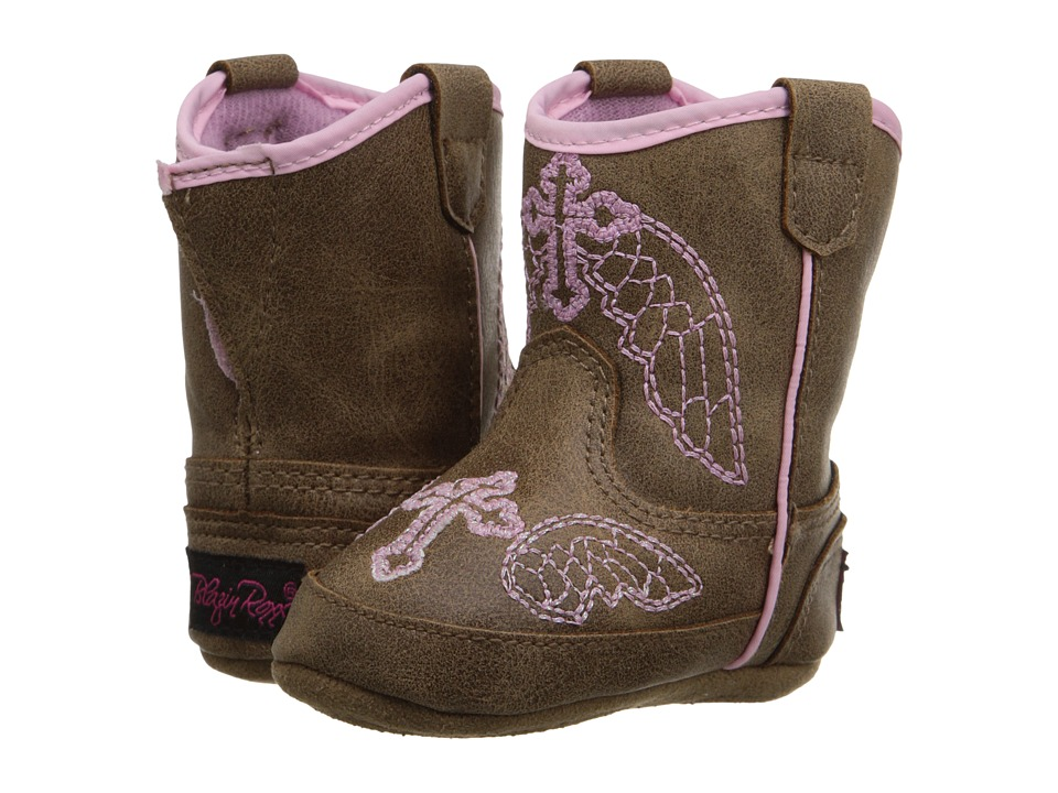 Blazin Roxx Baby Bucker Gracie (Infant/Toddler) (Brown/Pink) Cowboy Boots