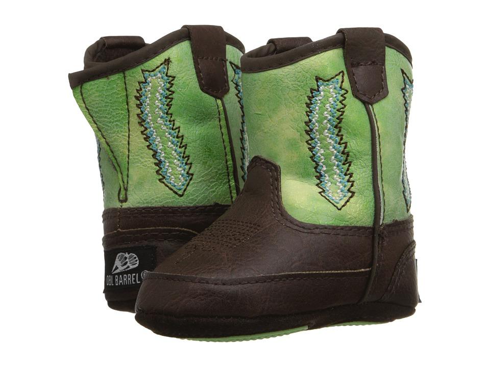 M & F Western - Baby Bucker Wyatt (Infant/Toddler) (Tan/Green) Cowboy Boots