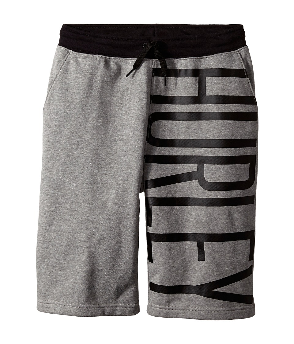 Hurley Kids Off Short Knit Shorts Big Kids Dark Grey Heather Boys Shorts