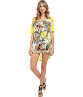 Roberto Cavalli - Zebra Flower T-Shirt Cover-Up