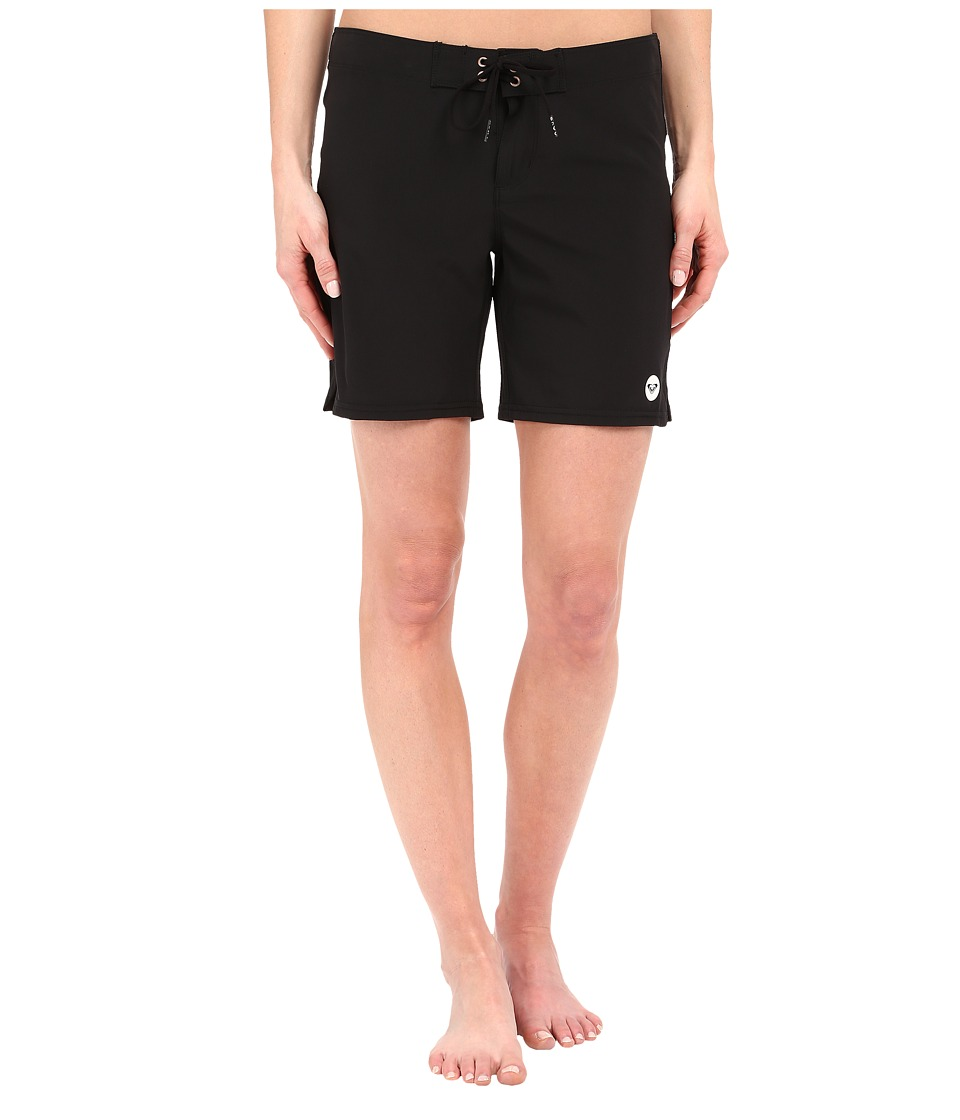 Roxy Essentials To Dye For 7 Boardshorts True Black Womens Swimwear