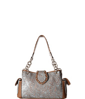 M&F Western - Floral Embossed Satchel