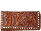 M&F Western Floral Embossed Buck Stitch Wallet