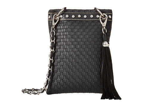 M&F Western Basketweave Crossbody - Black