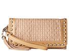 M&F Western Basketweave Wristlet Wallet (Tan)
