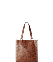M&F Western - Floral Embossed Buck Stitch Tote