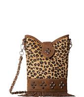 M&F Western - Leopard Fringe Crossbody