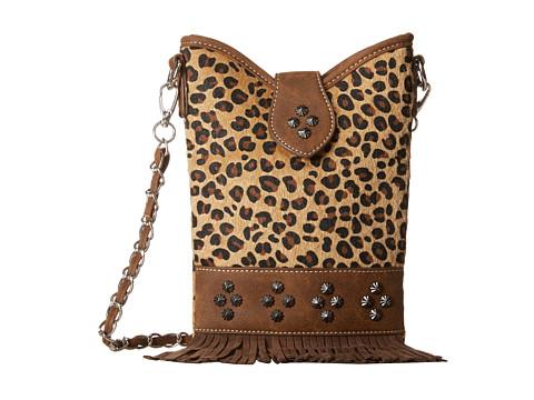 M&F Western Leopard Fringe Crossbody