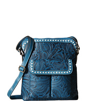 M&F Western - Floral Embossed Buck Stitch Crossbody
