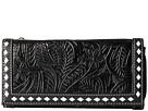 M&F Western Floral Embossed Buck Stitch Wallet (Black)