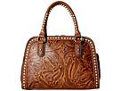 M&F Western Floral Embossed Buck Stitch Dr. Bag
