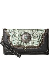 M&F Western - Croco Concho Wristlet Wallet