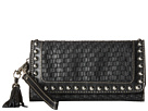 M&F Western Basketweave Wristlet Wallet (Black)