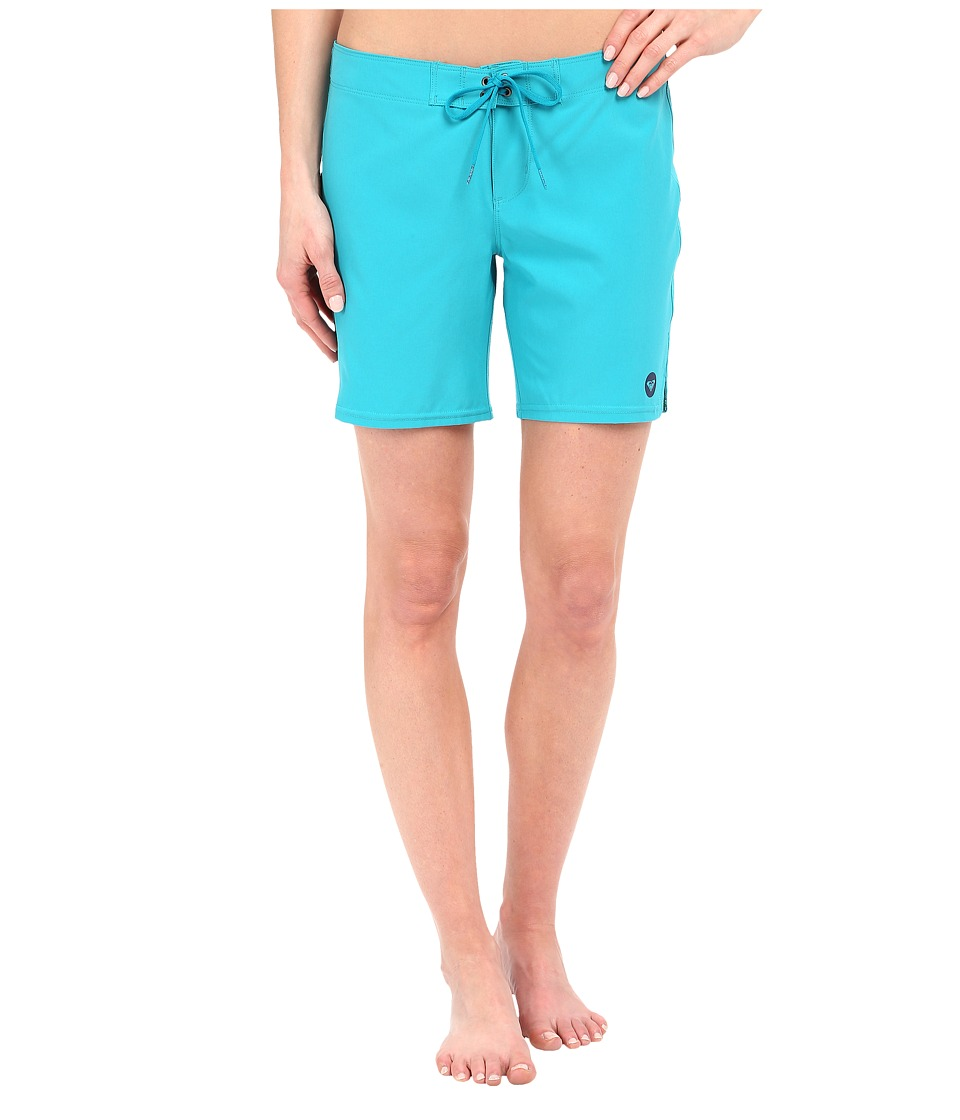 Roxy Essentials To Dye For 7 Boardshorts Dark Jade Womens Swimwear