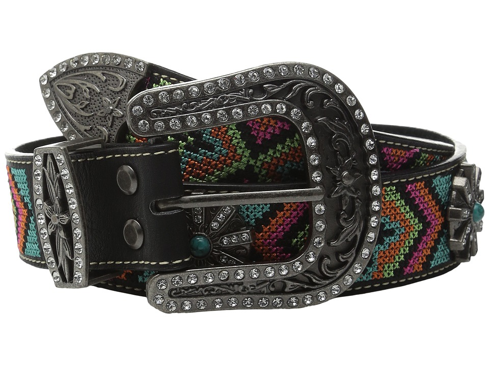 M&F Western - Aztec Embroidered Spiral Wheel Concho Belt ...