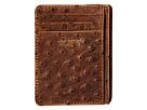 M&F Western Vinatage Ostrich Card Case (Brown)