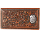 M&F Western Large Oval Concho Embossed Rodeo Wallet (Tan)