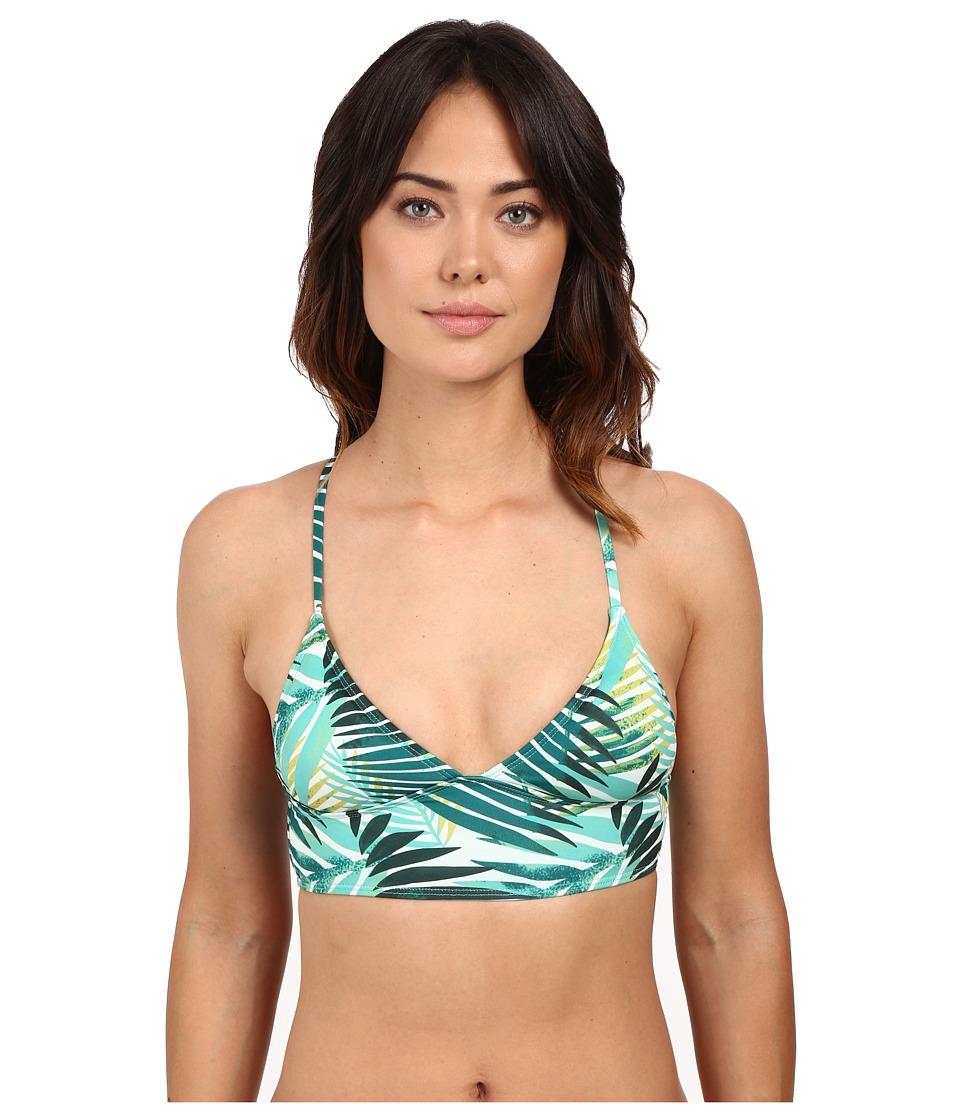 Roxy Jungle Fever Tri Bikini Top Jungle Fever 2 Small Scale Combo Womens Swimwear