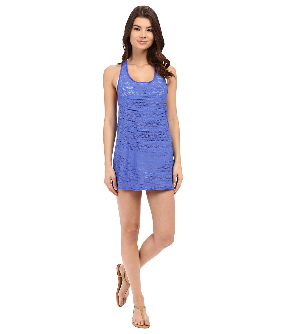 Roxy Crochet Sporty Tee 2 Cover Up Majorelle Blue Womens Swimwear