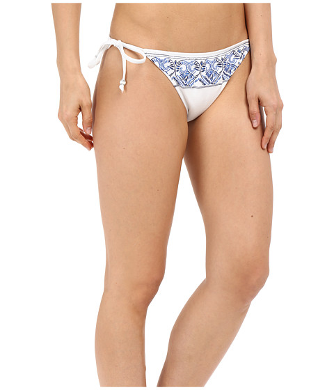 Roxy Sandy Tile Tie Side 70s Tie Pants White