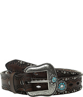 Ariat - Diamond Cutout Turquoise Concho Belt