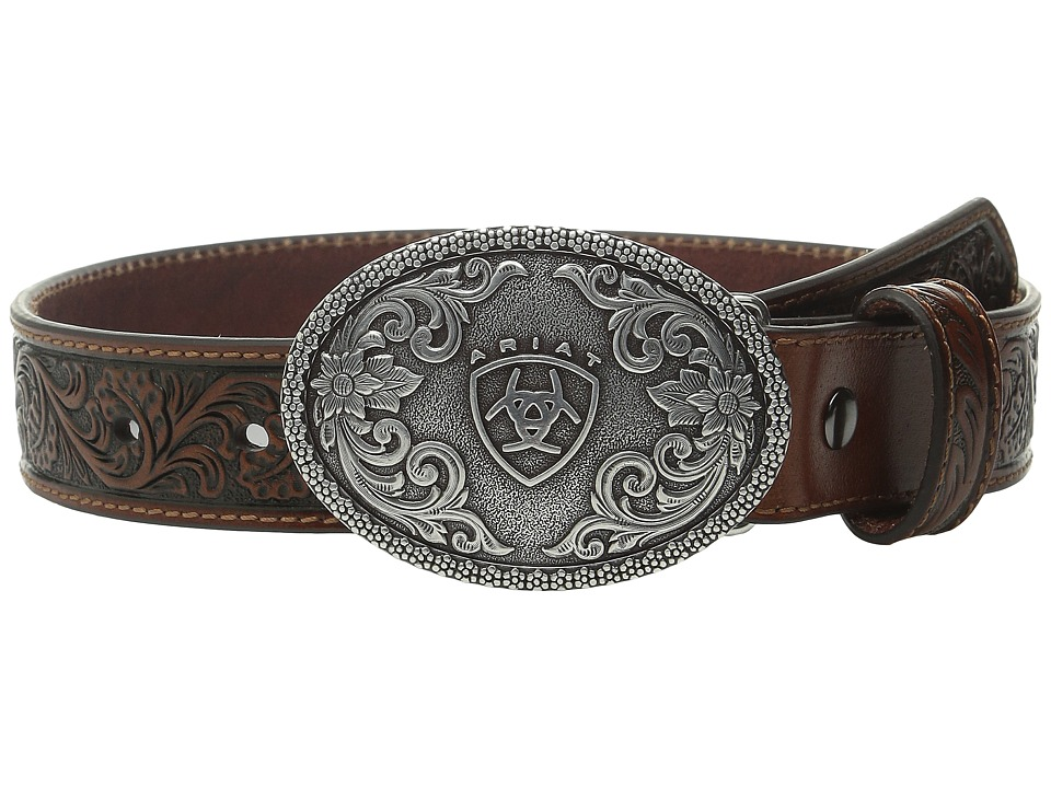 Ariat - Embossed Oval Shield Buckle Belt