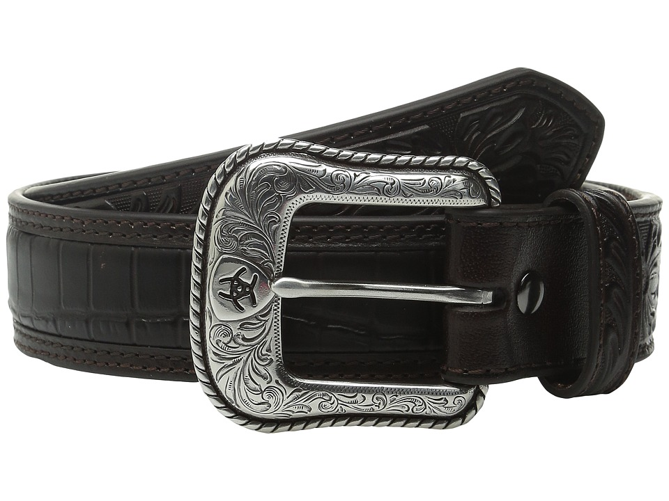 Ariat - Croco Floral Embossed Tab Belt