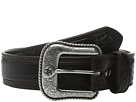 Ariat Croco Floral Embossed Tab Belt