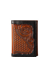 Ariat - Basket Weave Floral Tab Trifold Wallet