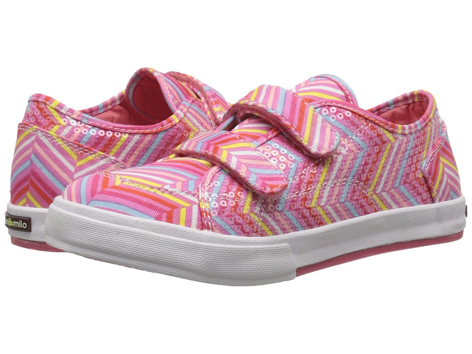 MorganampMilo Kids Lucy Double V Toddler/Little Kid Pink Multi Girls Shoes