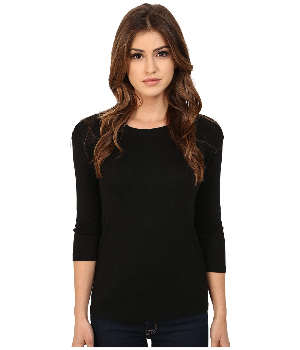Michael Stars Shine Crew Neck Shirt (Black) Women