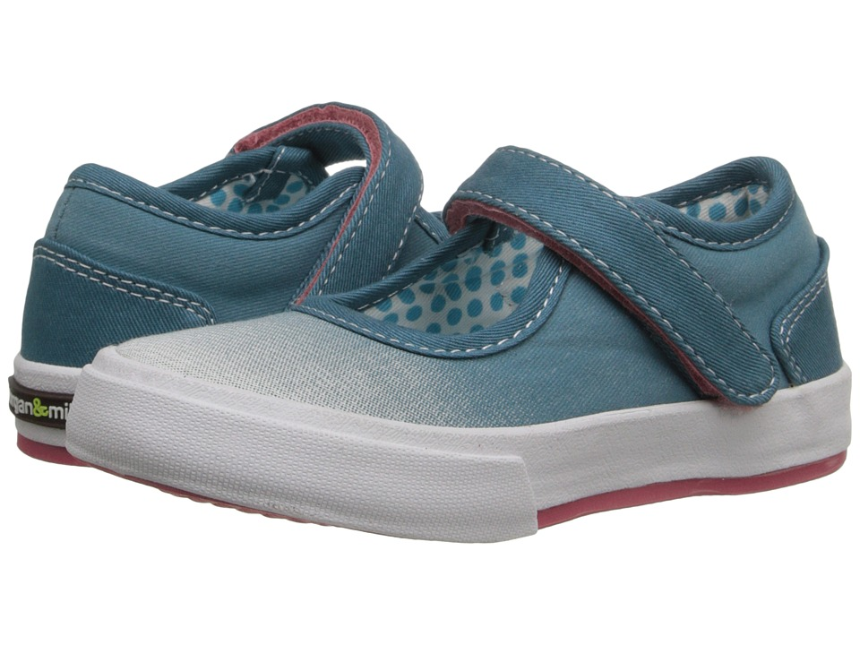 MorganampMilo Kids Maddie Mary Jane Toddler/Little Kid Peacock Blue Girls Shoes