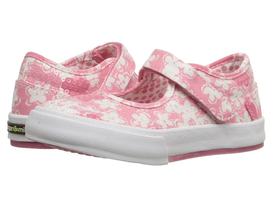 MorganampMilo Kids Maddie Mary Jane Floral Toddler/Little Kid Pink Floral Girls Shoes