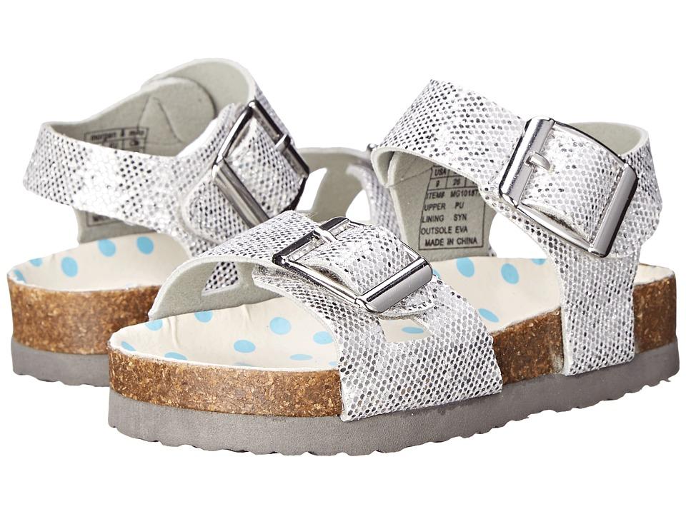 MorganampMilo Kids Bayou Toddler/Little Kid Silver Girls Shoes