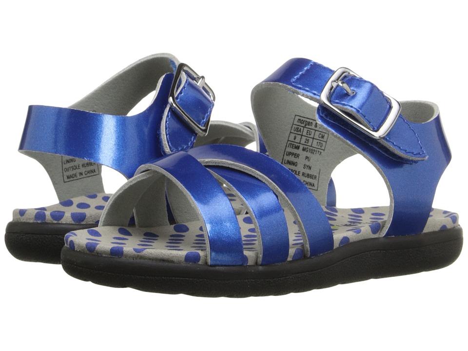 MorganampMilo Kids Mina Sandal Toddler/Little Kid Blue Girls Shoes