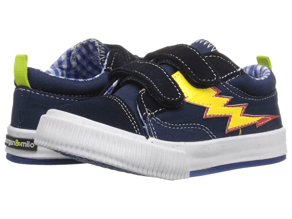 MorganampMilo Kids Double V Flames Toddler/Little Kid Brave Navy Flame Boys Shoes