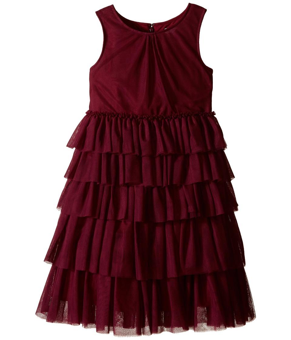 Burberry Kids Anjie Pleated Tulle Dress Little Kids/Big Kids Elderberry Girls Dress