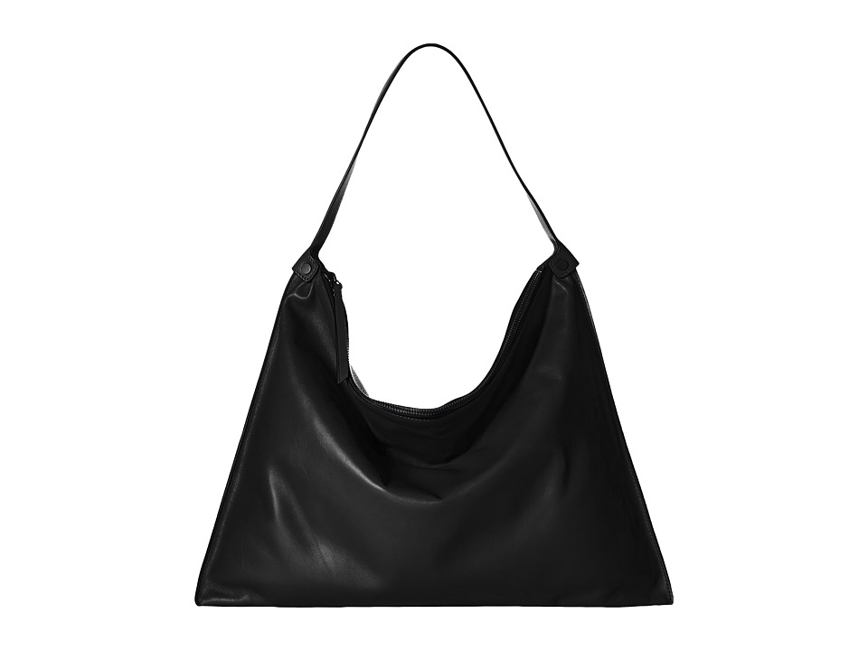 ECCO - Sculptured Shoulder Bag (Black/Black) Shoulder Handbags